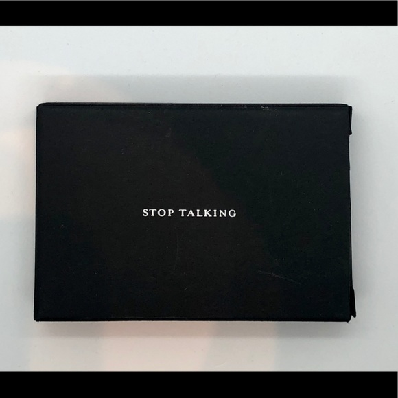 """STOP TALKING """"business cards"""" (box of 25)"""